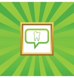 Tooth message picture icon vector