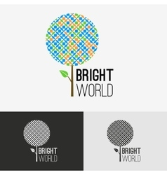 Tree bright logo concept vector