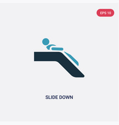 Two color slide down icon from people concept vector