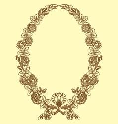Vintage floral laurel vector