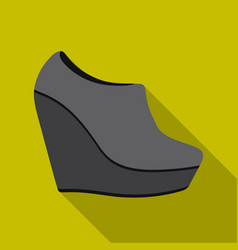 Wedge booties icon in flat style isolated on white vector