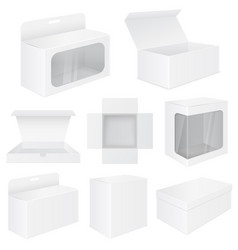 white box set of mockups vector image