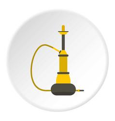 yellow hookah icon circle vector image