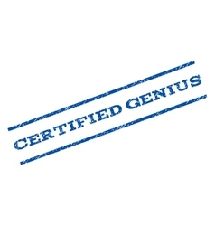 Certified Genius Watermark Stamp vector image