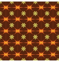 Flower and star seamless pattern vector image vector image