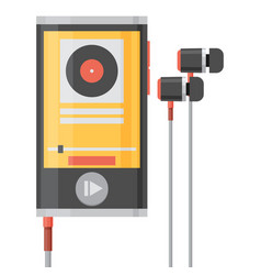 music player flat style vector image