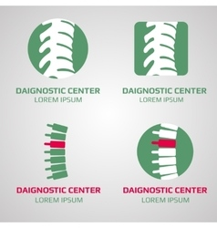 spine diagnostic center logo vector image