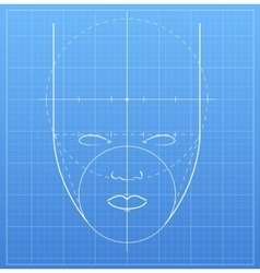 The mark of a human face vector image vector image