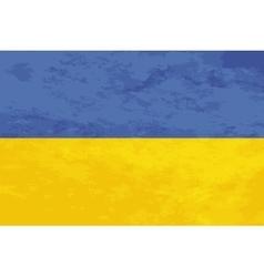 True proportions Ukraine flag with texture vector image