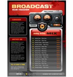 analog radio brochure vector image vector image