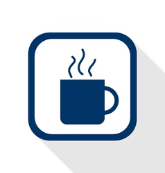 cup coffee flat icon vector image vector image