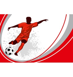 football poster vector image vector image