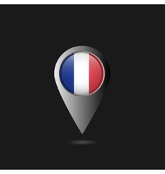 France flag pointer vector image vector image