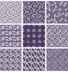 Monochrome violet retro style tiles vector image