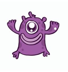 One eye monster cartoon design vector image vector image