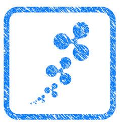 Ripple inflation framed stamp vector