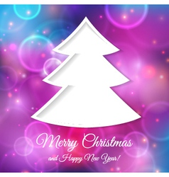 Abstract tree for Christmas greetings vector image