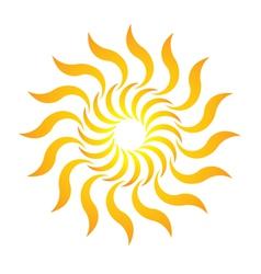 Candy Sun Logo vector image vector image