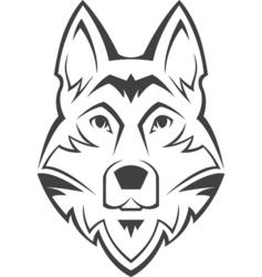 Dog head symbol vector image vector image