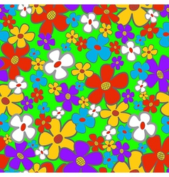 Flower Meadow Seamless vector image vector image