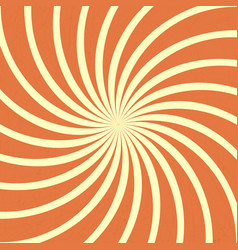 orange spiral vintage vector image