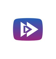 play button logo design arrow sign or application vector image
