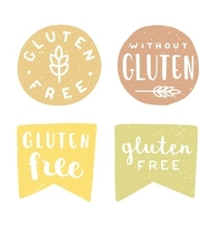 Set of gluten free badges vector image
