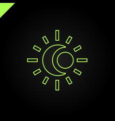Sun and moon logo abstract vector