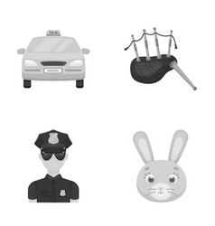 transport security and other monochrome icon in vector image