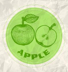 Apple vintage paper vector