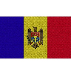 Flags Moldova on denim texture vector image vector image