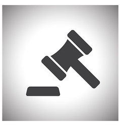 Judge or auction hammer icon vector