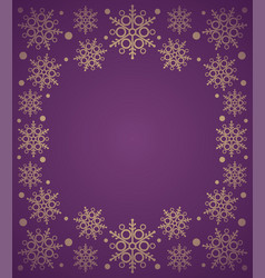 new year background card with snowflake purple vector image vector image