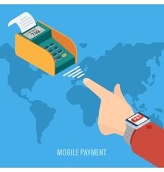 Smart Watch payment concept vector image