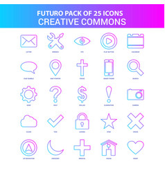 25 blue and pink futuro creative commons icon pack vector