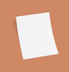 3d flyer mock-up design vector image