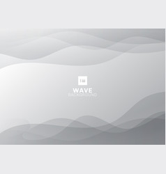 abstract smooth wave gray gradient line vector image