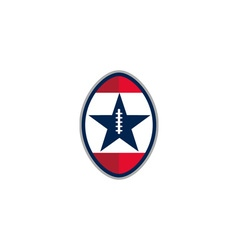 American Football Ball Star Stripes Retro vector