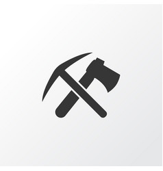 ax with pickax icon symbol premium quality vector image