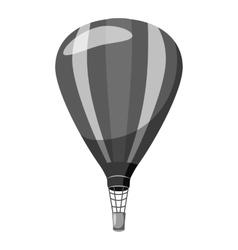 Balloon icon gray monochrome style vector image