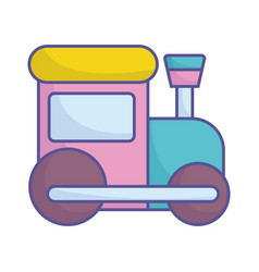 Bashower plastic train toy icon vector