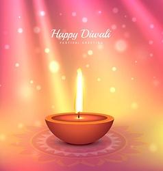 Beautiful indian diwali festival greeting design vector