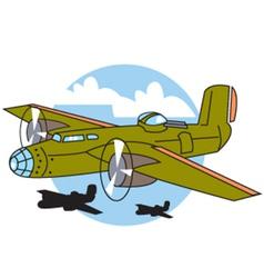 Bomber plane vector