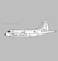breguet br1150 atlantic vector image