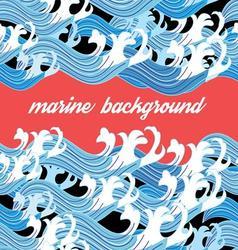 Bright interesting graphic nature marine vector