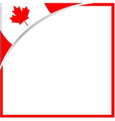canadian flag corner maple leaf frame vector image