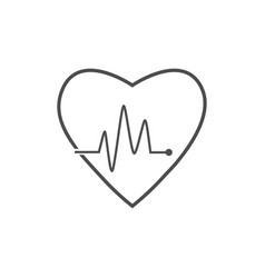 cardio heart heart beat icon vector image