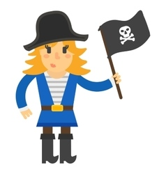 Cartoon pirate character vector image