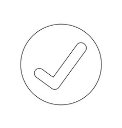 Check mark icon design vector