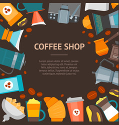 coffee shop banner card vector image